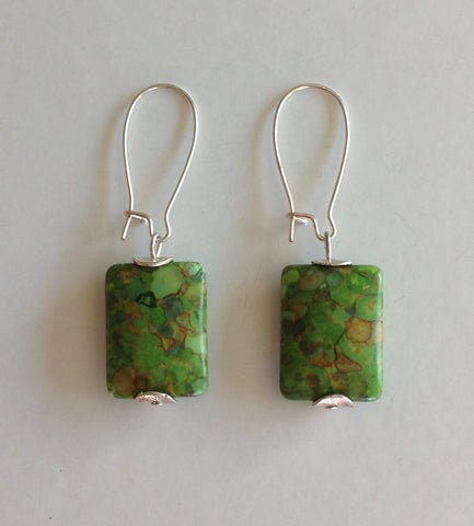 Green Magnesite Earrings