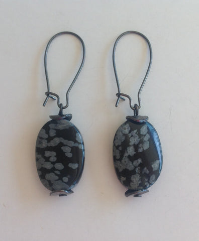 Black Jasper Earrings