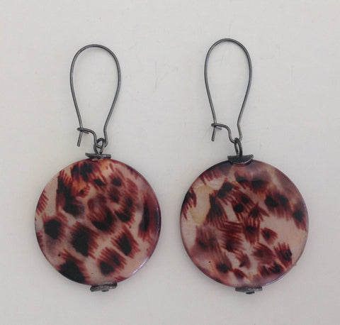 Animal Print Mother of Pearl Drops