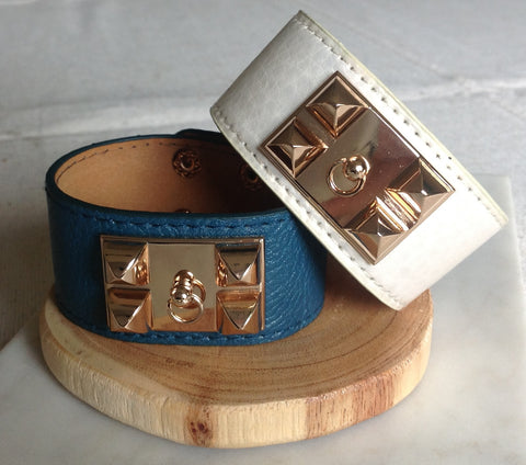 Slate Blue or White Cuff