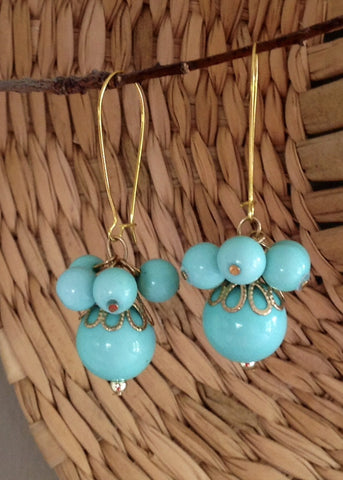 Turquoise ball drops