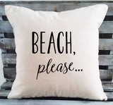 Beach, Please Pillow