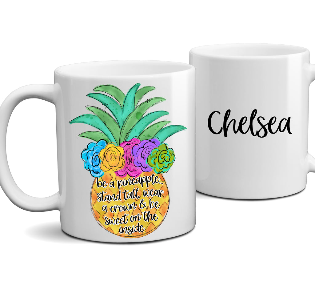 Personalized Be a Pineapple Colorful Coffee Mug