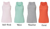 Smile Southern Flowy Racerback Tank (choose your color)
