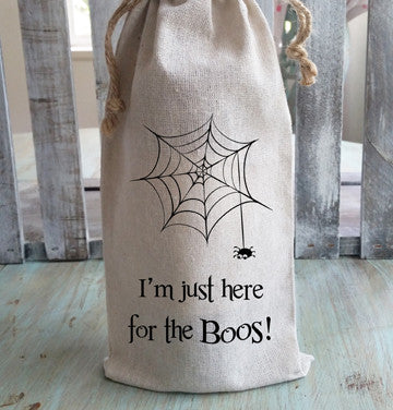 I'm Just Here for the Boos Halloween Wine Bag