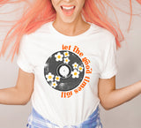 Let the Good Times Roll  Retro Vinyl Record Album T Shirt