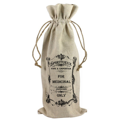 For Medicinal Purposes Only Wine Bag