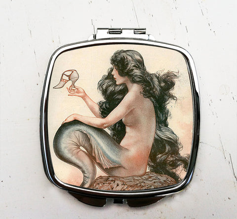 Mermaid with Shoe Pocket Mirror