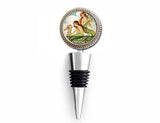 Mermaids with Seahorse Wine Bottle Stopper