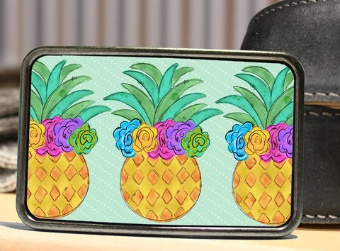Pineapple Trio Colorful Belt Buckle