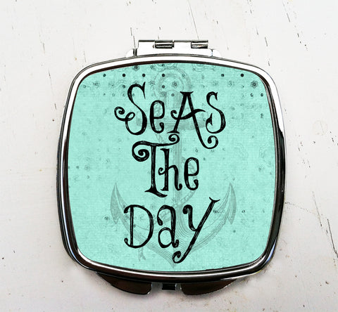 Seas the Day Pocket Mirror