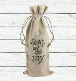 Seas the Day Wine Tote Bag