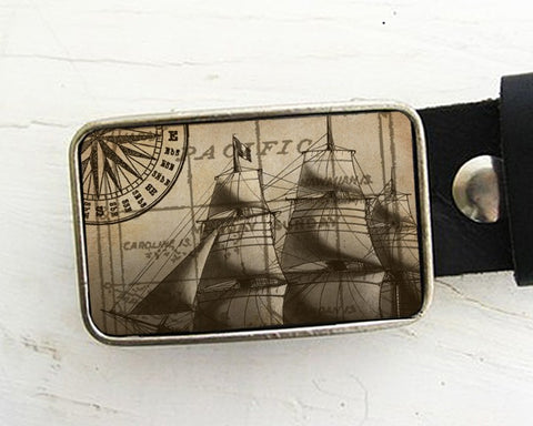 Vintage Ship Belt Buckle