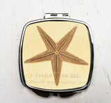 Vintage Starfish Pocket Mirror