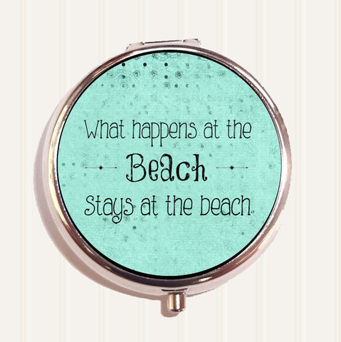 What Happens at the Beach Pill Organizer Box