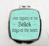 What Happens at the Beach Pocket Mirror