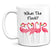 What the Flock Pink Flamingo Coffee Mug
