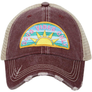 good vibes only trucker hat