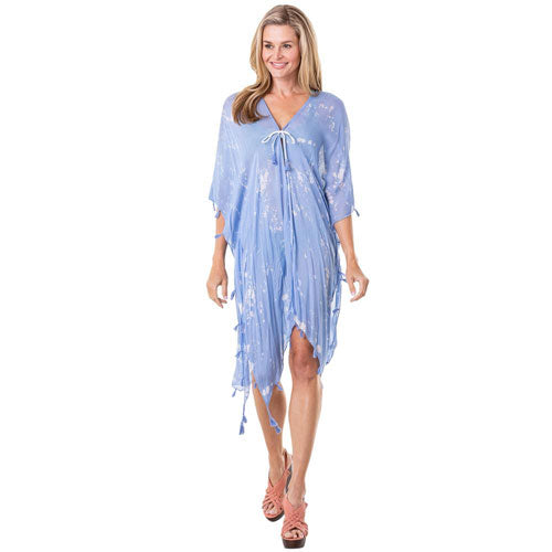 blue chiffon swim cover up