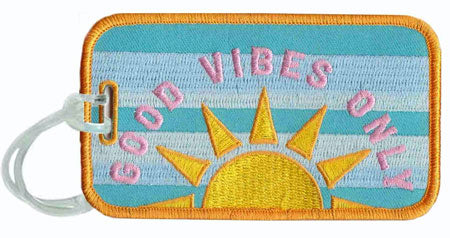 good vibes only luggage tag