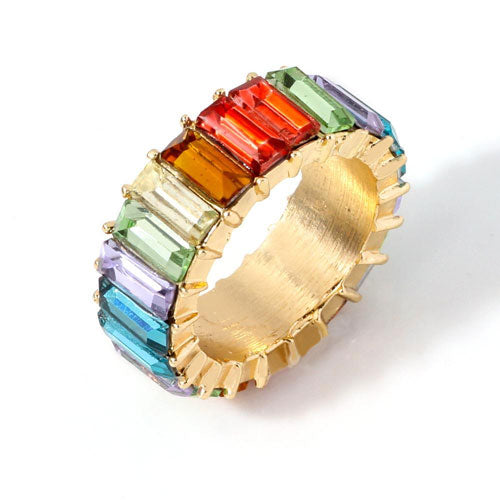 multi-colored glass ring