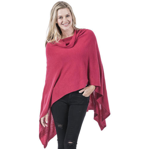 red women's poncho