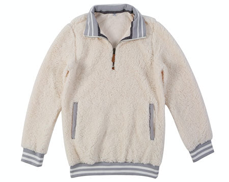 sherpa pullover with pockets