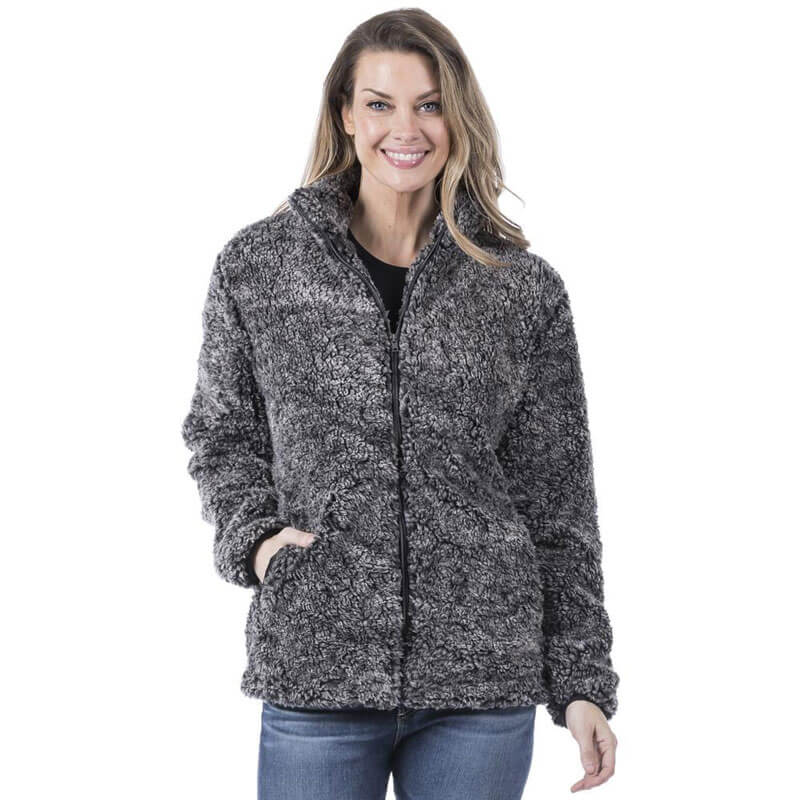 women's black sherpa jacket