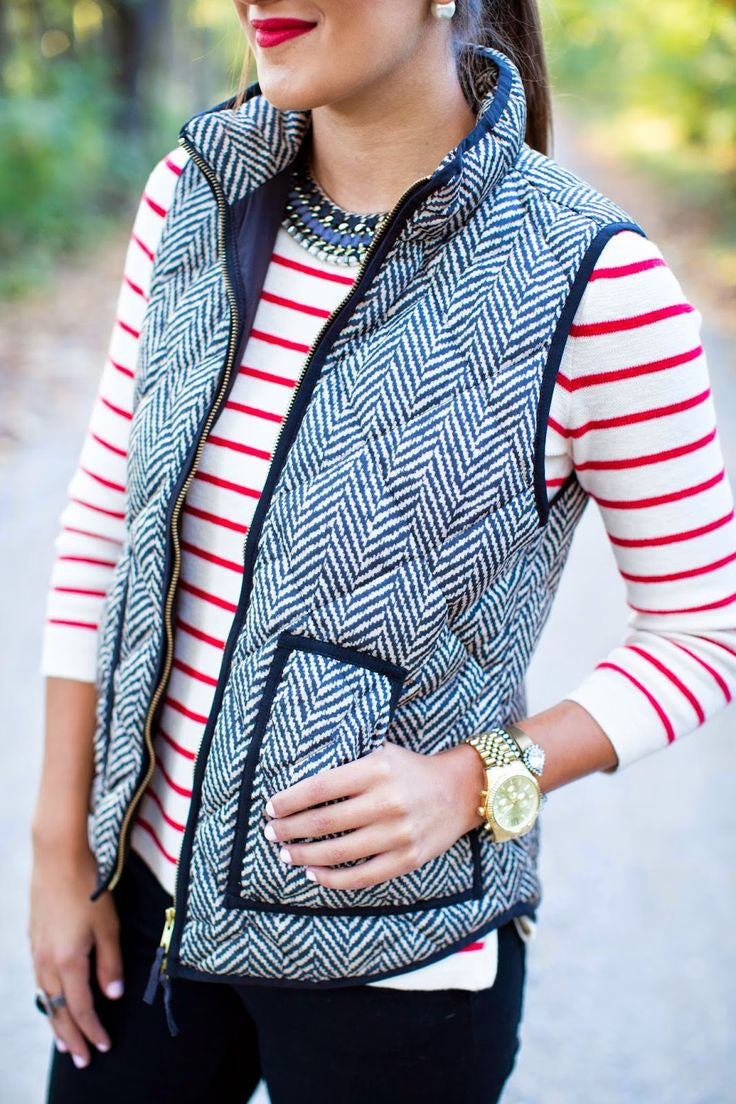 Katydid Wholesale Women's Herringbone Vest - SALE DOES NOT INCLUDE BLACK COLOR