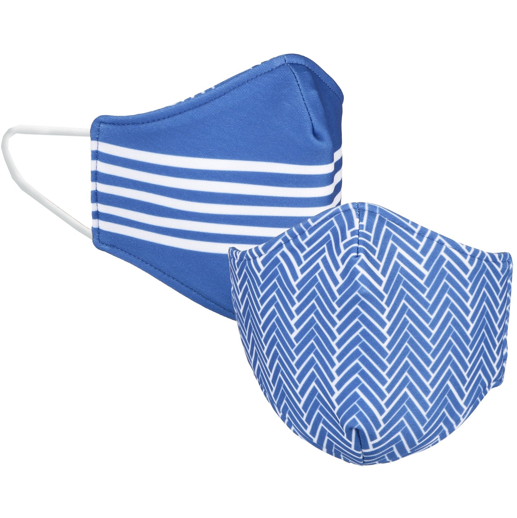 Royal and White Reversible Face Mask