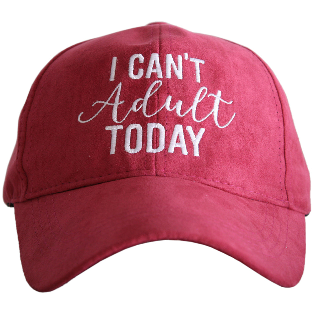 Katydid I Can't Adult Today ULTRA SUEDE Wholesale Baseball Hat