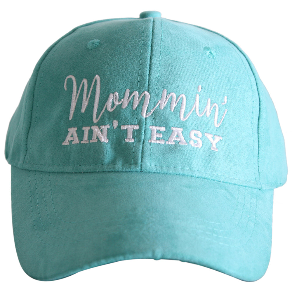 Katydid Mommin' Ain't Easy ULTRA SUEDE Wholesale Baseball Hats