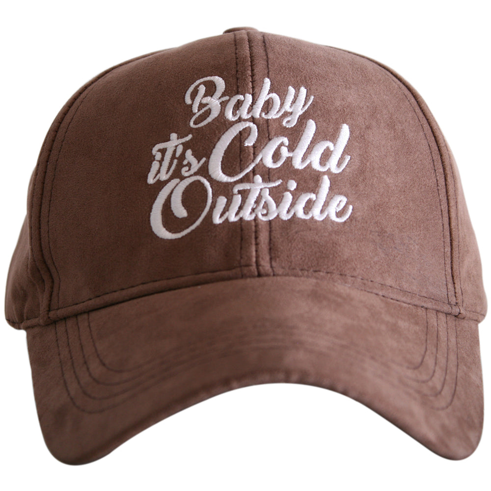 Katydid Baby It's Cold Outside ULTRA SUEDE Wholesale Baseball Hat