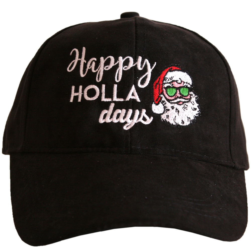 Happy Holla Days ULTRA SUEDE Wholesale Baseball Hat