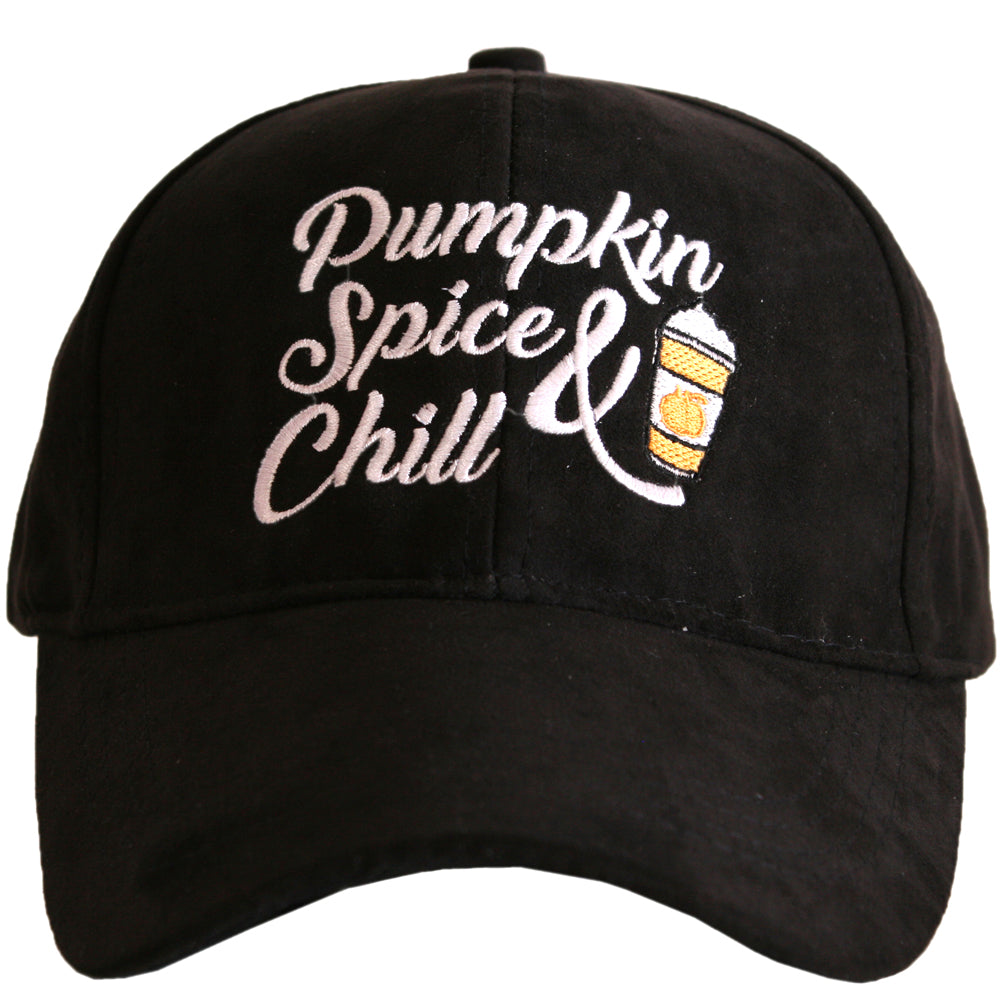 Katydid Pumpkin Spice & Chill ULTRA SUEDE Wholesale Baseball Hat