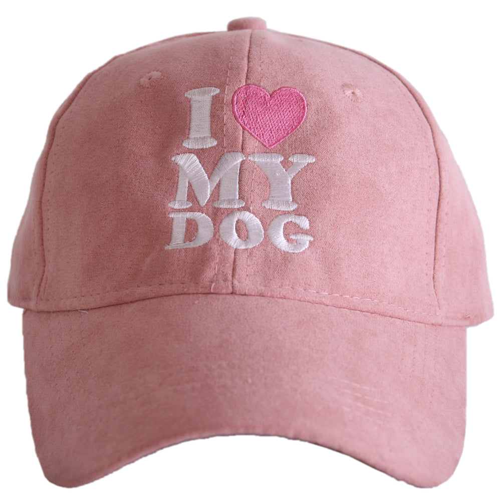 I Love My Dog ULTRA SUEDE Wholesale Baseball Hats