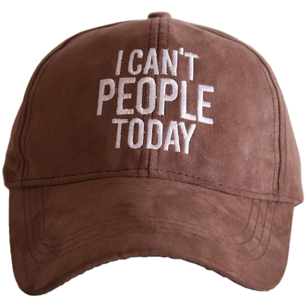 Katydid I Can't People Today ULTRA SUEDE Wholesale Baseball Hat