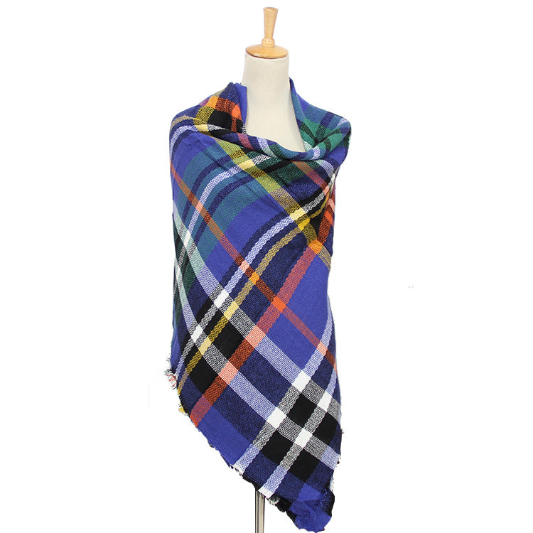 Plaid Multi-Color Blanket Scarf—Women's Wholesale