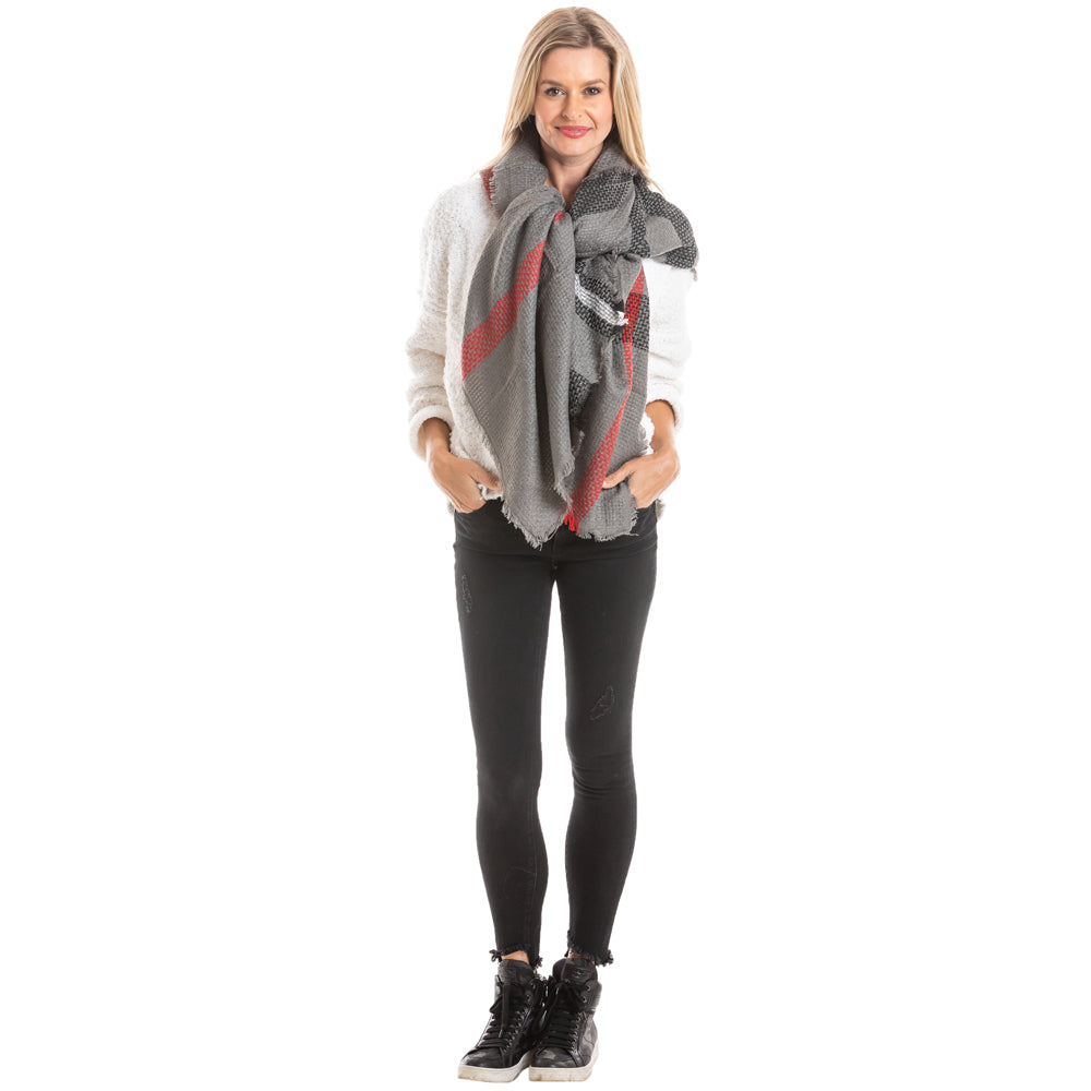 Women's Wholesale Plaid Blanket Scarves