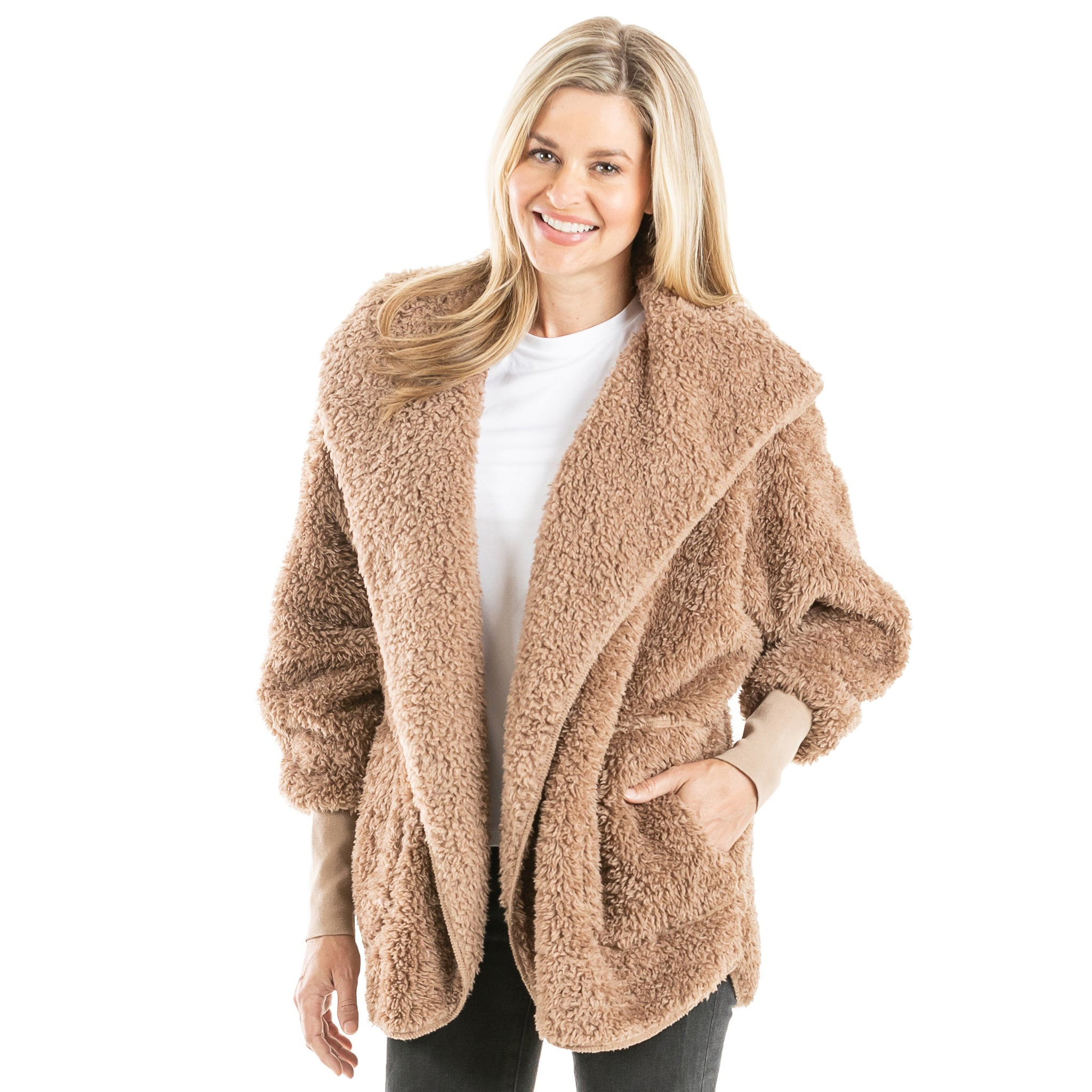 Sherpa Wholesale Body Wrap/Cardigan for Women Hoodie (7 colors)