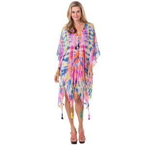 Multicolored Tie Dye Wholesale Swimsuit Cover Ups