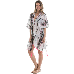 Black and Hot Pink Wholesale Swimsuit Cover Ups for Women