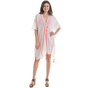 White & Pink Swimsuit Wholesale Cover Ups
