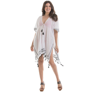 White and Black Wholesale Swimsuit Cover Ups