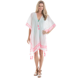 White and Pink Wholesale Swimsuit Cover Ups