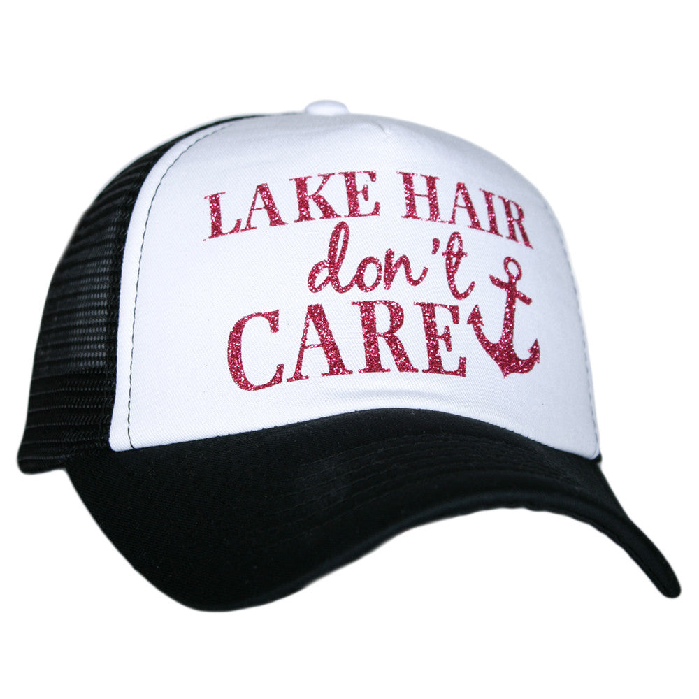 Katydid Lake Hair Don't Care Wholesale Glitter Trucker Hats