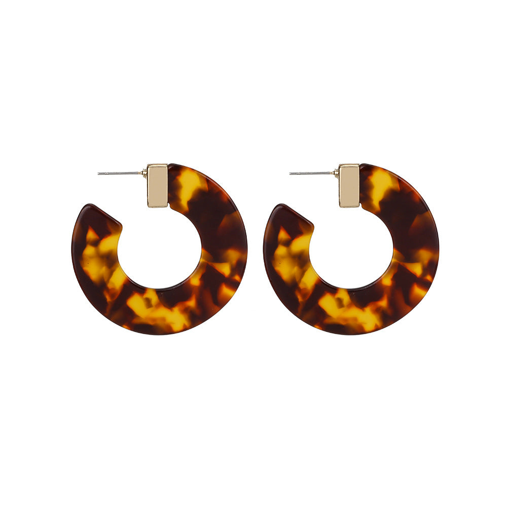 Leopard Acrylic Hoop Wholesale Earrings