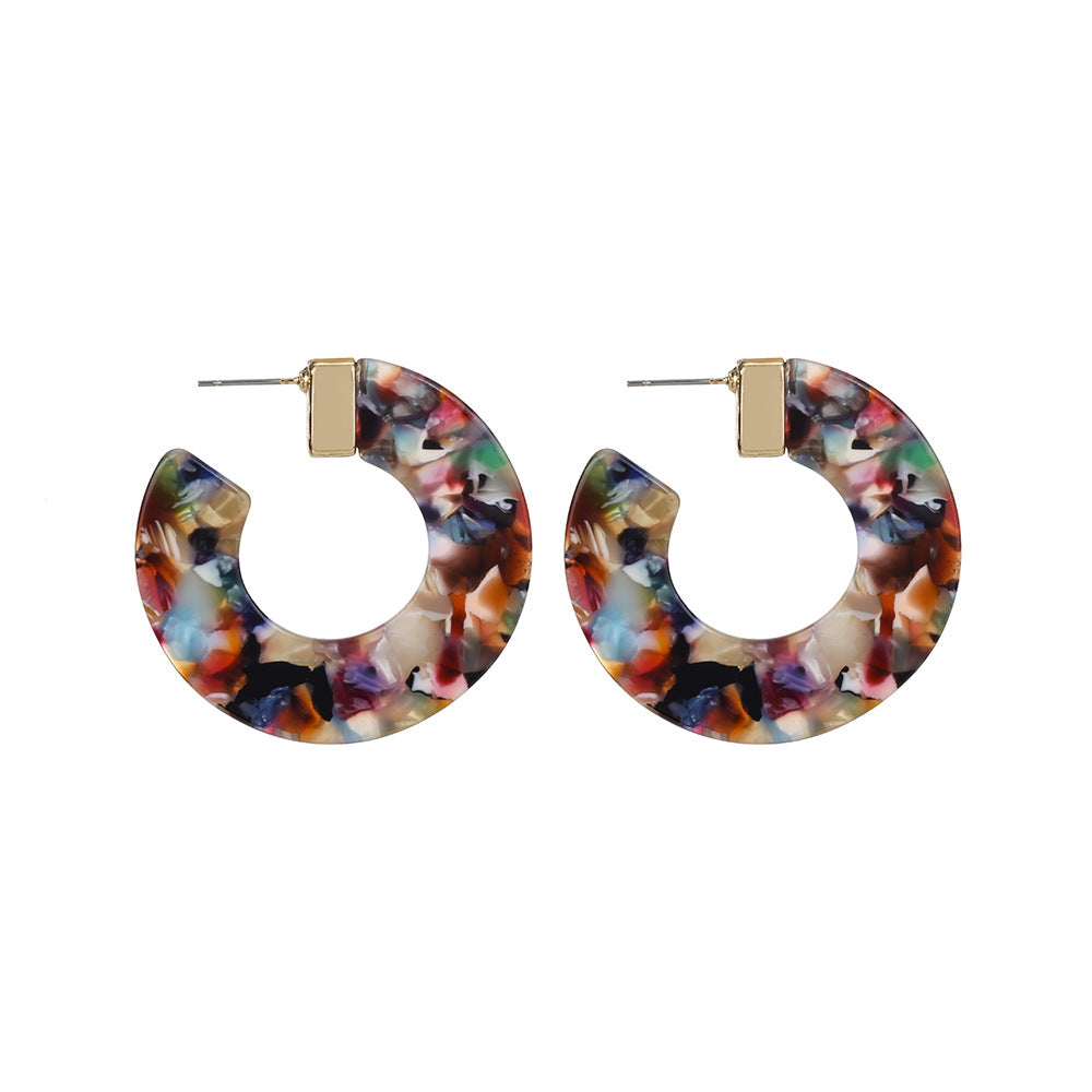 Multicolored Acrylic Hoop Wholesale Earrings