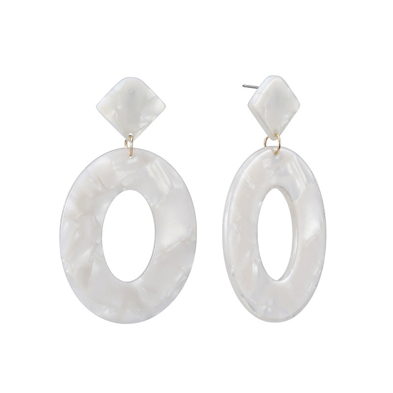 Ivory Acrylic Drop Wholesale Earrings