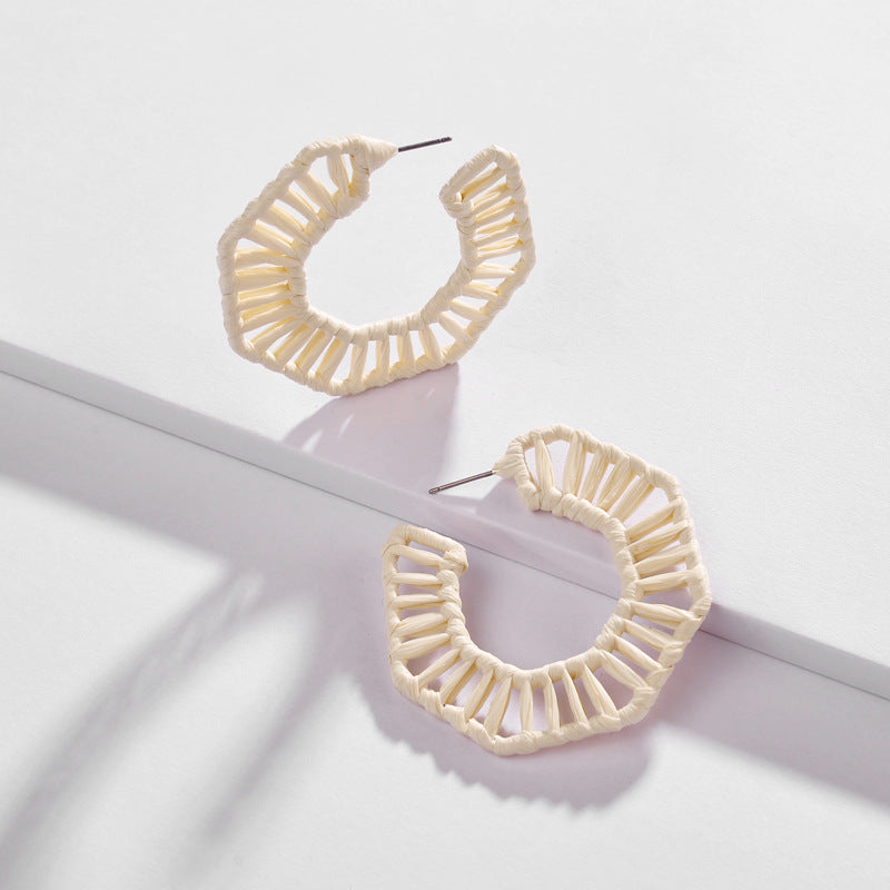 Katydid Wholesale Hoop Earrings with Raffia